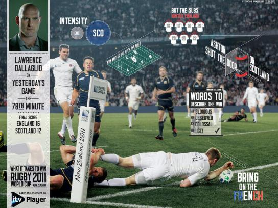 ITV Print Ad -  Live Press - Eng vs Sco
