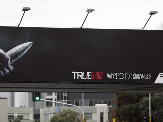True Blood Outdoor Ad -  Vampires for grown ups