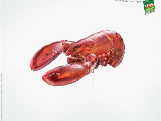 Eno Print Ad -  Food Balloon, Lobster