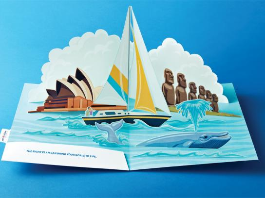 Envision Financial Print Ad -  Pop-Up Sailboat
