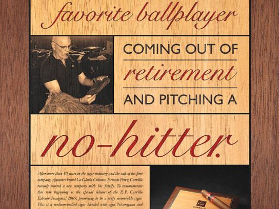 E.P. Carrillo Print Ad -  Ballplayer