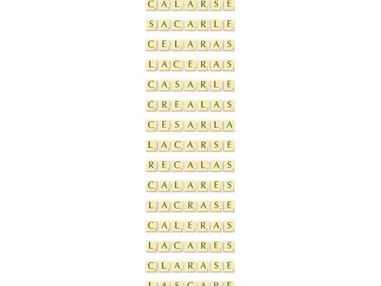 Scrabble Print Ad -  Escalar
