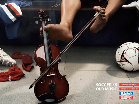 ESPN Print Ad -  Soccer is our music, 2