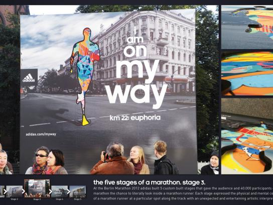 Berlin Marathon Outdoor Ad -  The Five Stages of a Marathon, Euphoria