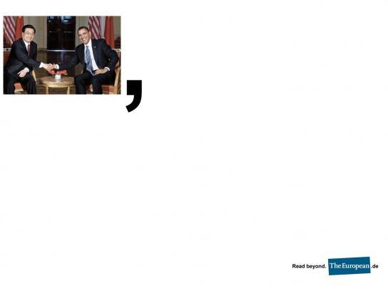 The European Print Ad -  Comma, 2