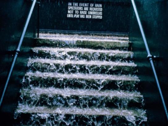 Evian Print Ad -  Rain