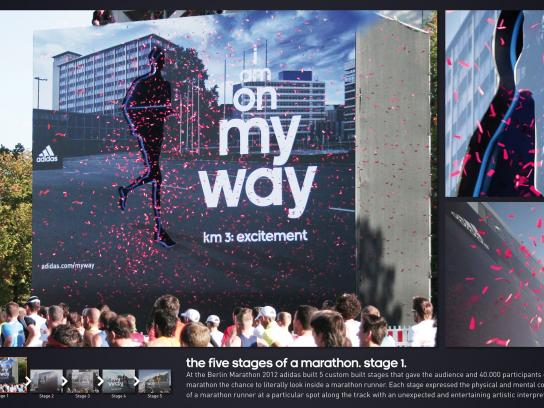 Berlin Marathon Outdoor Ad -  The Five Stages of a Marathon, Excitement