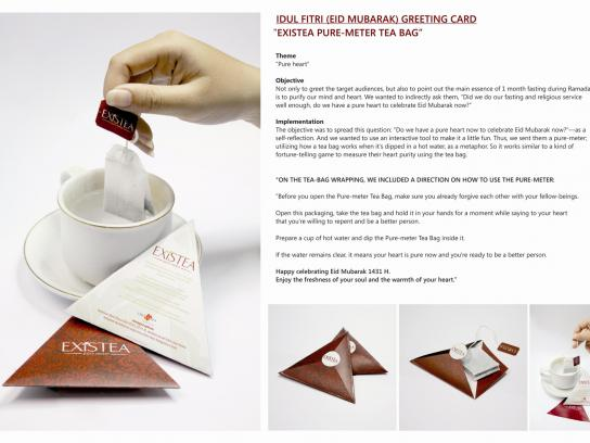 Existcomm Direct Ad -  Existea Pure-meter Tea Bag