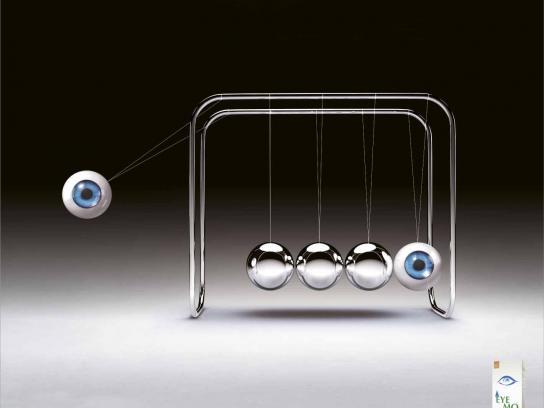 Eyemo Print Ad -  Newton Cradle