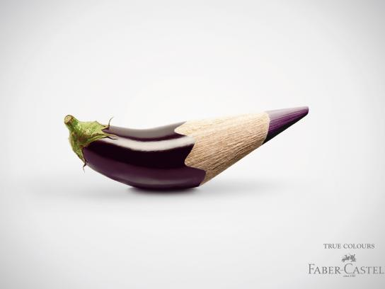 Faber-Castell Print Ad -  Eggplant