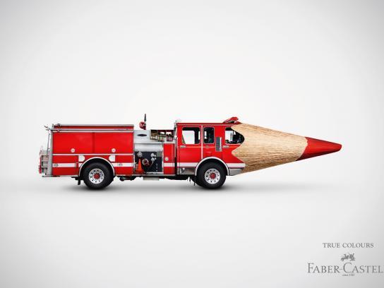 Faber-Castell Print Ad -  Firetruck