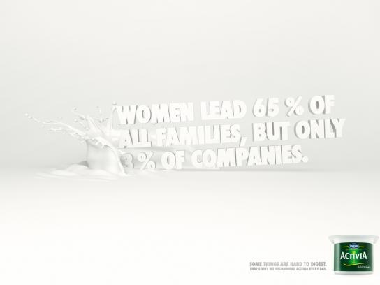 Danone Print Ad -  Women lead
