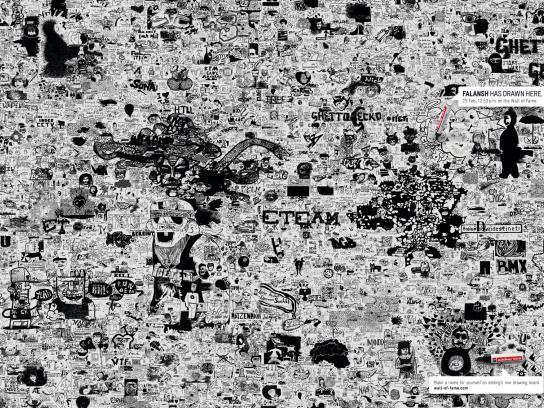 Edding Print Ad -  Wall of Fame, Falansh