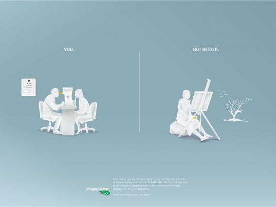 Famcare Print Ad -  Eyes
