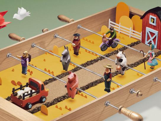 Goodyear Outdoor Ad -  Foosball Table, Farm