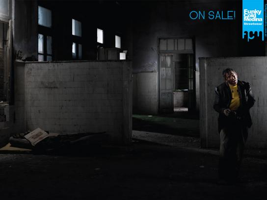 Funky Cold Medina Print Ad -  Homeless, 3