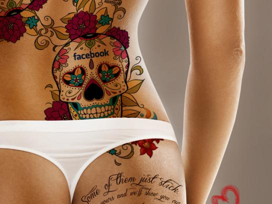 Saatchi & Saatchi Print Ad -  The Lovemarks Tattoo, Female