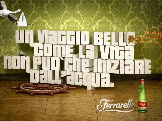 Ferrarelle Print Ad -  Naples Airport, 1