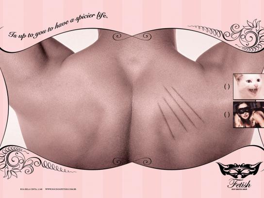 Fetish Print Ad -  Scratches