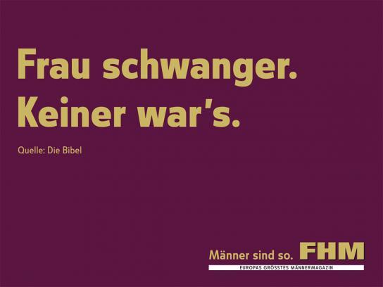 FHM Print Ad -  Bible