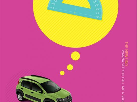 Fiat Print Ad -  Call me a square