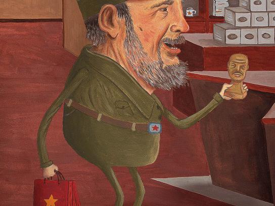Museum of Communism Print Ad -  Keeping Communism Alive, Fidel