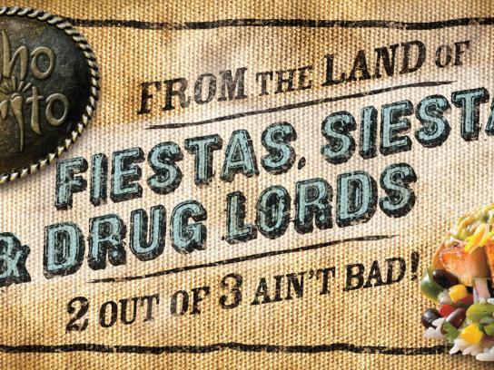 Mucho Burrito Outdoor Ad -  Fiestas