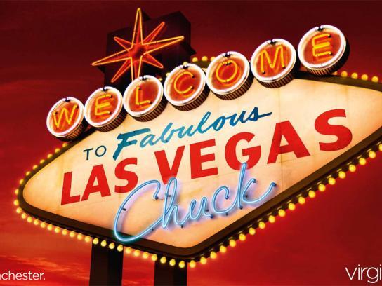 Virgin Outdoor Ad -  Welcome to Las Vegas, Chuck