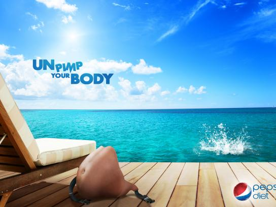 Pepsi Print Ad -  Unpimp your body