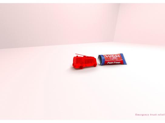 Funda Mints Print Ad -  Fire engine