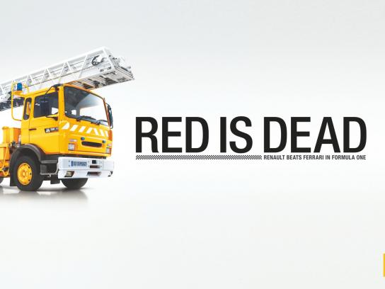 Renault Print Ad -  Red is Dead, Fire Truck
