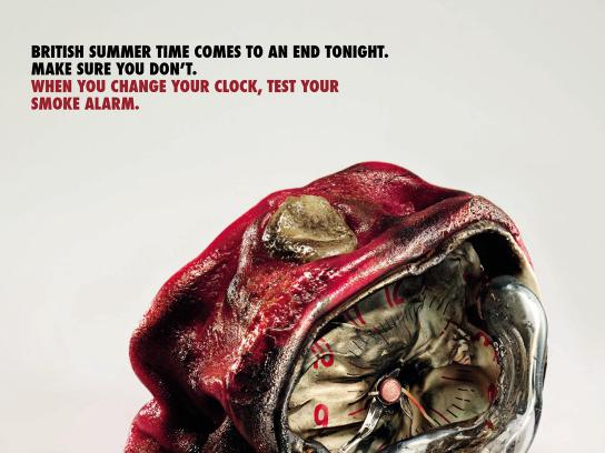 Department For Communities & Local Government Print Ad -  Fire Safety, Clock 1