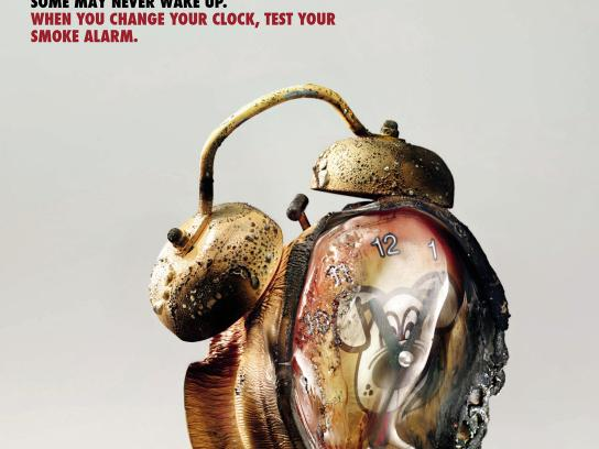 Department For Communities & Local Government Print Ad -  Fire Safety, Clock 2
