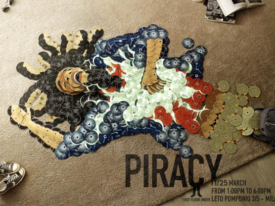 First Floor Under Print Ad -  Piracy, Bob Marley
