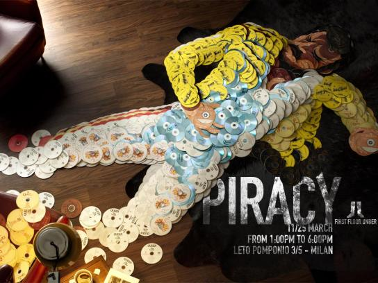 First Floor Under Print Ad -  Piracy, Freddy Mercury