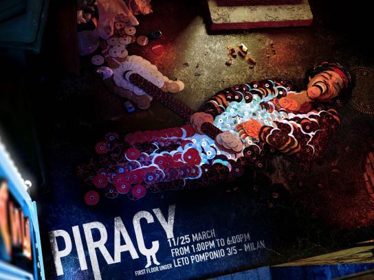 First Floor Under Print Ad -  Piracy, Jimi Hendrix