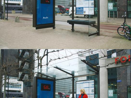 Fitness First Ambient Ad -  Bus stop