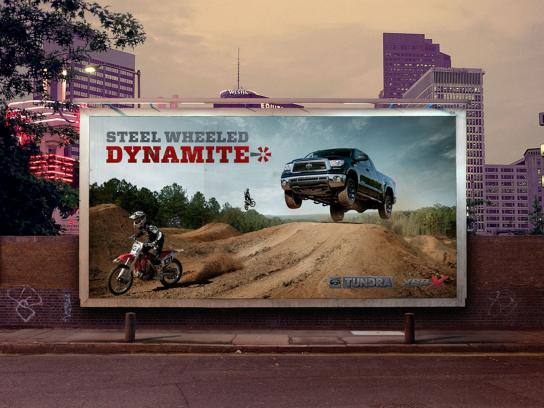 Toyota Outdoor Ad -  Steel Wheeled Dynamite