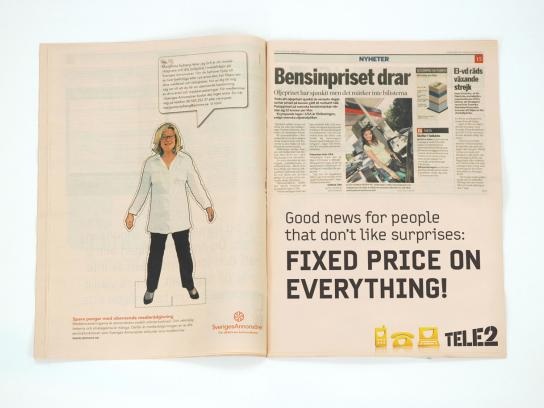 Tele2 Print Ad -  Fixed price, 1