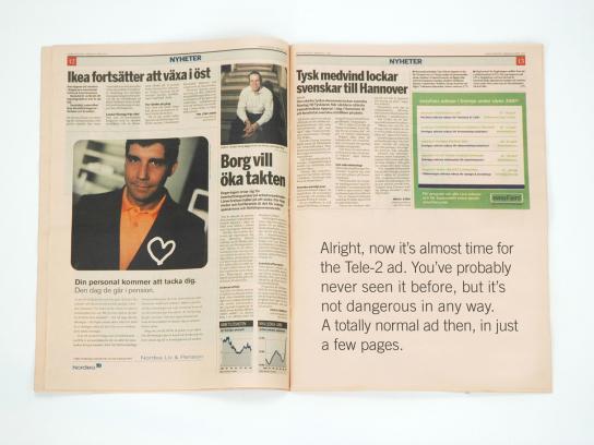 Tele2 Print Ad -  Fixed price, 3