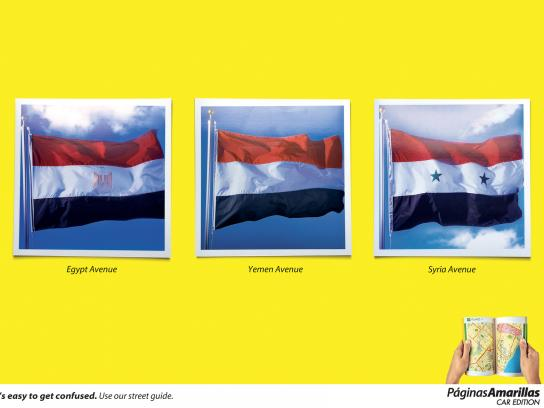Yellow Pages Print Ad -  Flags