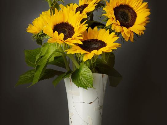Interflora Print Ad -  Broken Vase