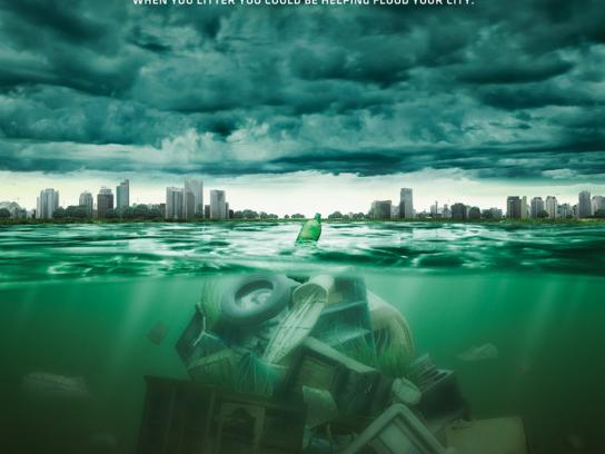 Sao Paulo City Hall Print Ad -  Flood