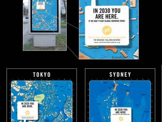 Earth Love Movement Print Ad -  Global Warming