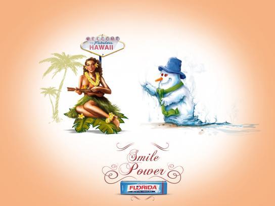 Florida Chewing Gum Print Ad -  Snowman