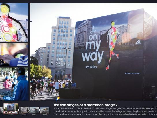 Berlin Marathon Outdoor Ad -  The Five Stages of a Marathon, Flow