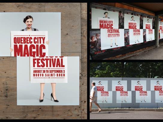 Quebec city magic festival Outdoor Ad -  Sliced Girl
