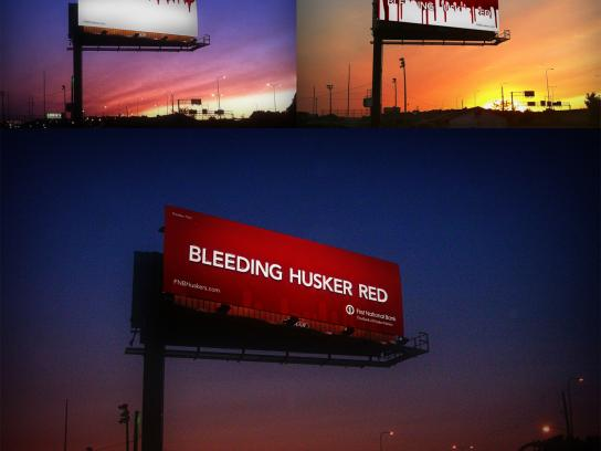 FirstBank Outdoor Ad -  Bleeding board
