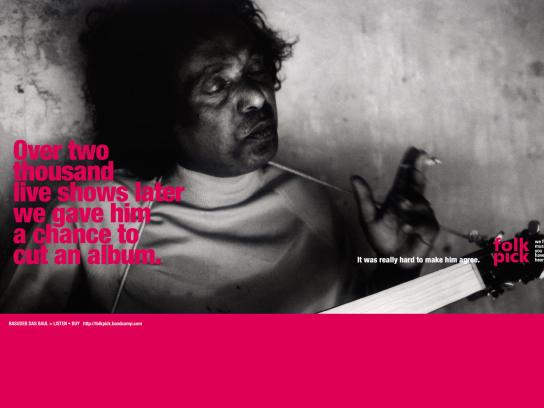 FolkPick Print Ad -  Album