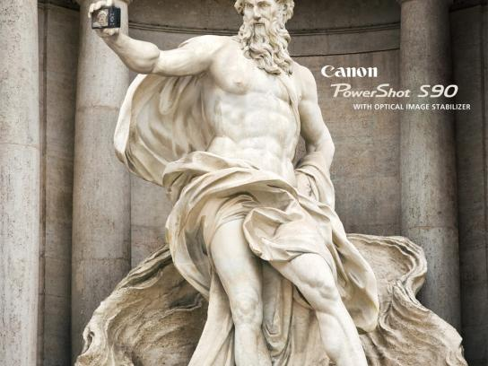 Canon Print Ad -  Statues, Fontana Di Trevi